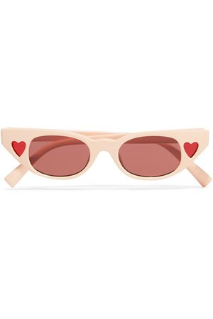 Le Specs | + Adam Selman The Heartbreaker cat-eye acetate sunglasses | NET-A-PORTER.COM
