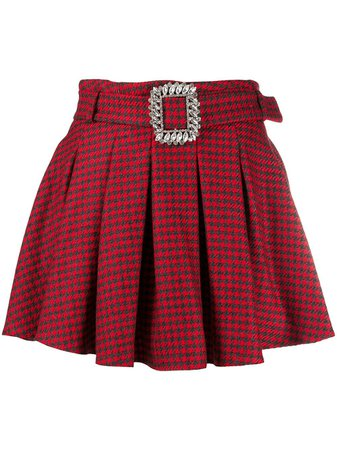 Giuseppe Di Morabito Houndstooth Pleated Mini Skirt