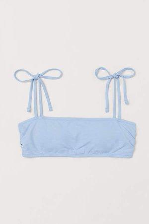 Padded Bandeau Bikini Top - Blue