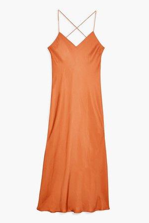 Cowl Back Satin Slip Dress | Topshop
