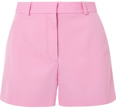 Wool-twill Shorts - Baby pink