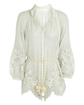 Zimmermann Carnaby Scalloped Blouse | INTERMIX®