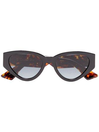 Dior Eyewear Black Leo 52 Sunglasses - Farfetch