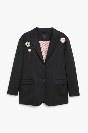 Salute Sisterhood blazer - Black - Blazers - Monki WW