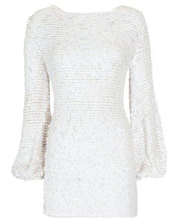 Retrofête Tara Sequined Mesh Mini Dress | INTERMIX®