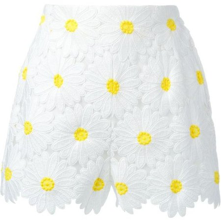 dolce and gabbana white daisy shorts