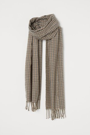 Patterned Scarf - Brown/checked - Men | H&M US