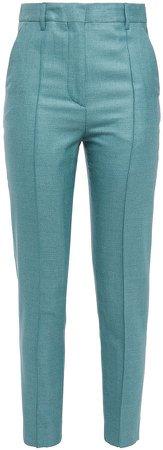 Silk And Wool-blend Slim-leg Pants