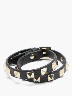 Leather Wrap Bracelet/Valantino