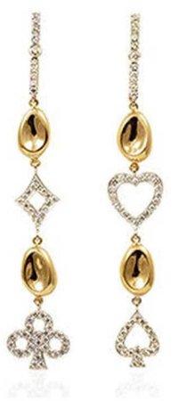 ESTYS  A Pair Of Love Earrings Gold 18k Club, Spade,Heart $2360.00