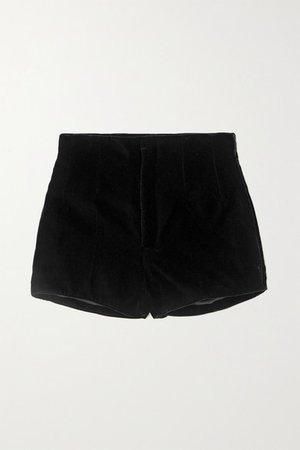 Velvet Shorts - Black