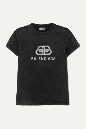 Balenciaga | Metallic printed cotton-jersey T-shirt | NET-A-PORTER.COM