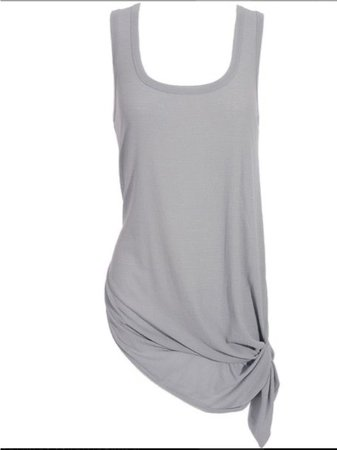 grey knotted tank top dress