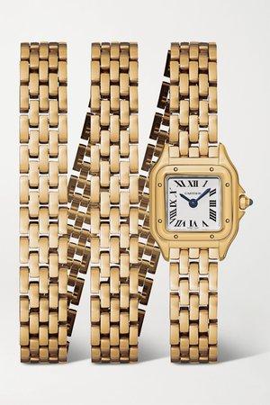 Gold Panthère de Cartier 20mm small 18-karat gold watch | Cartier | NET-A-PORTER