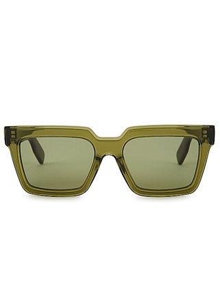 Kenzo Green square-frame sunglasses - Harvey Nichols