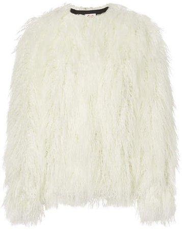 House of Fluff - Faux Fur Coat - White