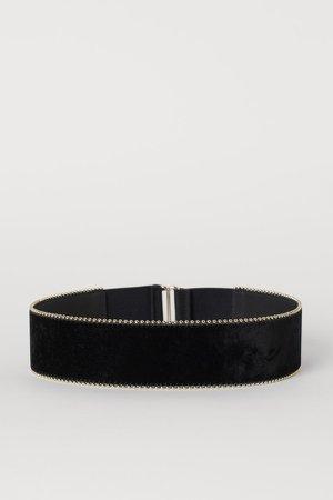 Waist Belt with Studs - Black