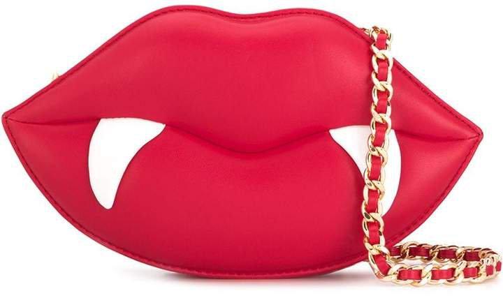red lips shoulder bag