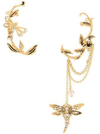Alberta Ferretti Ornate Dragonfly Ear Cuff - Farfetch