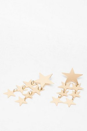 Star-t the Day Drop Earrings | Nasty Gal