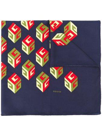 Gucci logo-print Scarf - Farfetch