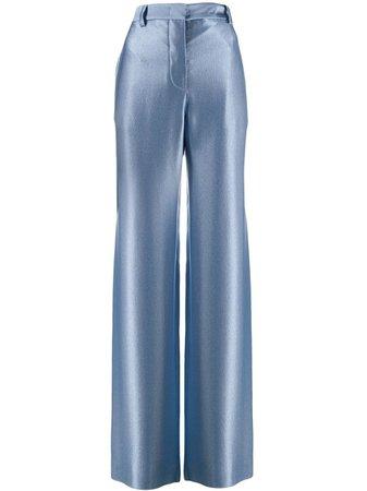 Giorgio Armani Silk Wide Leg Trousers Ss19 | Farfetch.Com
