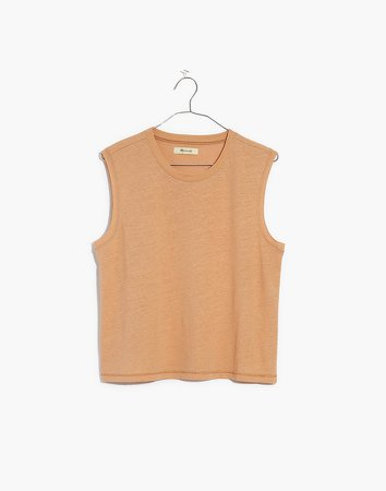 Raw-Edged Hangout Muscle Tank