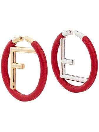 Fendi Logo Hoop Earrings Ss20   Farfetch.com