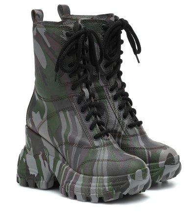 Camouflage Ankle Boots - Miu Miu | Mytheresa