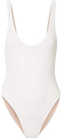 TM Rio - Caraíva Striped Swimsuit - Cream