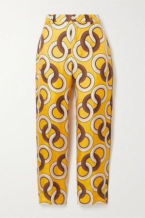 Saffron Tartaro printed silk-twill straight-leg pants | F.R.S For Restless Sleepers | NET-A-PORTER