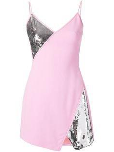 pink silver glitter dress