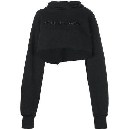 Coup De Coeur logo cropped sweatshirt