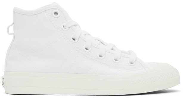 White Nizza High-Top Sneakers
