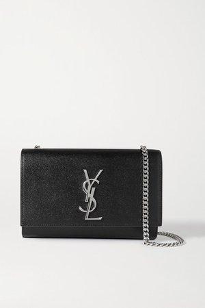Kate Small Textured-leather Shoulder Bag - Black