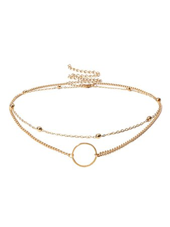 Circle Detail Choker Set 2pcs | ROMWE