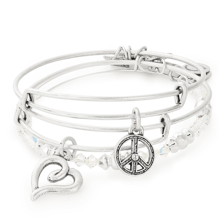 Peace and Love Set of 3 | Charity by Design | ALEX AND ANI