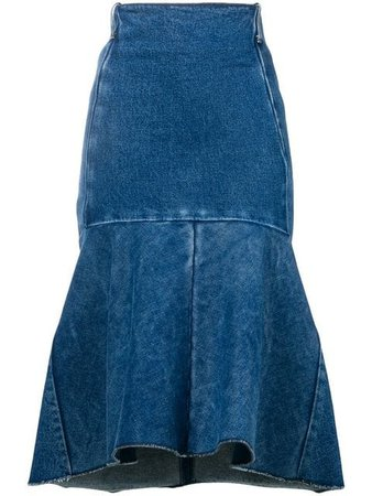 Balenciaga Godet peplum-style skirt $1,550 - Shop SS19 Online - Fast Delivery, Price
