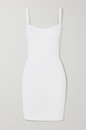 Net Sustain Thema Seersucker Mini Dress - White