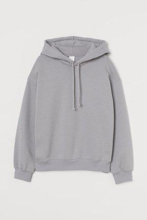 Cotton-blend Hoodie - Gray