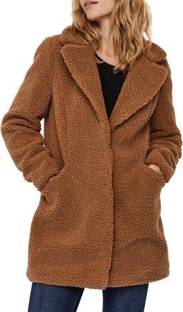 Donna Faux Fur Teddy Jacket