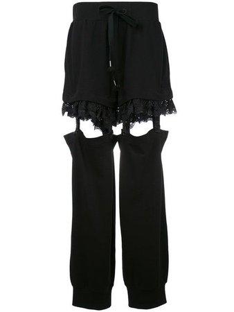 FENTY X PUMA Fenty x Puma suspender trousers.
