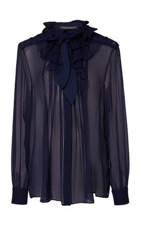 Ruffled Silk Blouse By Alberta Ferretti | Moda Operandi