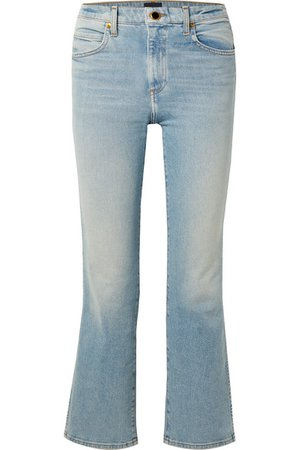 Khaite | Vivian cropped high-rise bootcut jeans | NET-A-PORTER.COM