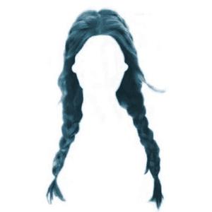 blue hair png twin braids