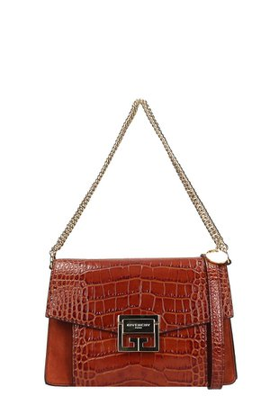 Givenchy Gv3 Small Brown Cocco Printed Leather Bag