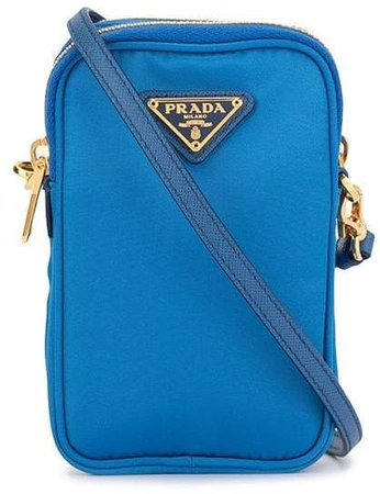 Pre-Owned mini triangular logo plaque crossbody bag