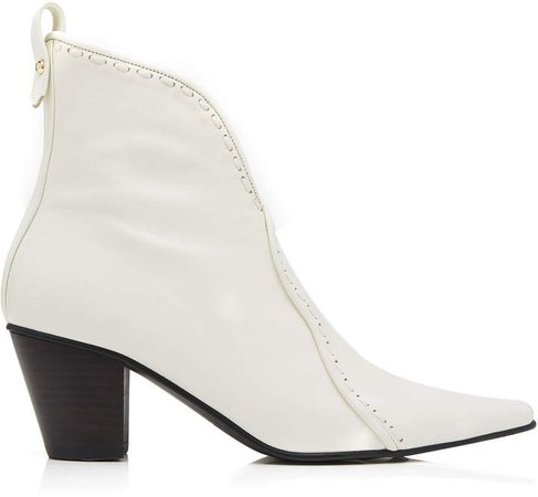 Stitch Wave Ankle Boots