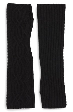 Halogen® Cable Knit Cashmere Arm Warmers | Nordstrom