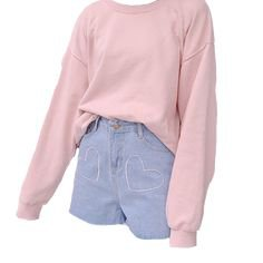 peach soft girl aesthetic outfit dress shorts denim pink